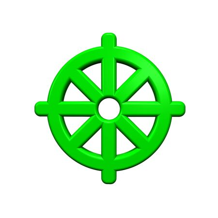 Green Buddhism symbol. Computer generated 3D photo rendering. Stock Photo - 4667592