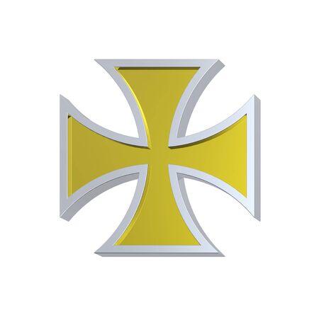teutonic: Gold choppers cross