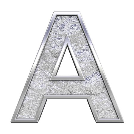 One letter from chrome cast alphabet set, isolated on white. Computer generated 3D photo rendering. Stock Photo - 5491954