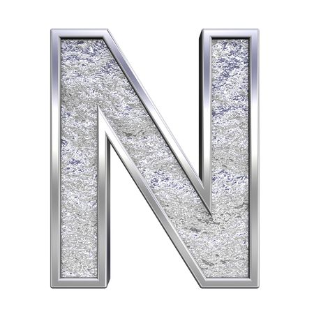 casts: One letter from chrome cast alphabet set, isolated on white. Computer generated 3D photo rendering.
