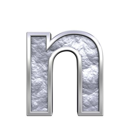 One lower case letter from silver cast alphabet set, isolated on white. Computer generated 3D photo rendering. Stock Photo - 5606062