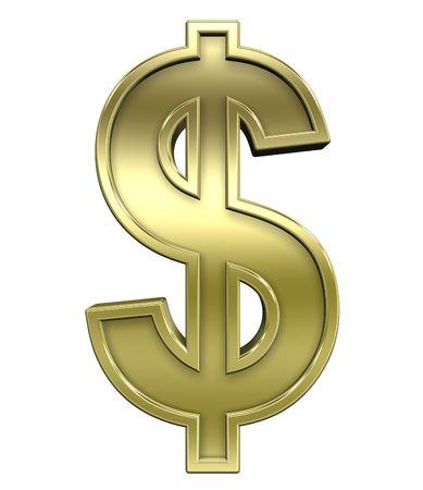 signo pesos: Signo de d�lar de oro brillante con conjunto de alfabeto de oro de los cuadros, aislado en blanco. Procesamiento de fotos 3D generados por ordenador.