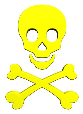 Yellow skull and crossbones photo