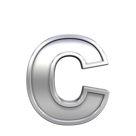 One lower case letter from chrome with frame alphabet set, isolated on white. Computer generated 3D photo rendering. Stock Photo - 5689710
