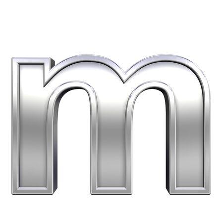One lower case letter from chrome with frame alphabet set, isolated on white. Computer generated 3D photo rendering. Stock Photo - 5689770