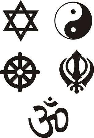 simbolos religiosos: S�mbolos religiosos - vector ilustration