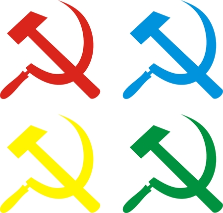 Vector set of communism sign - hammer and sickle