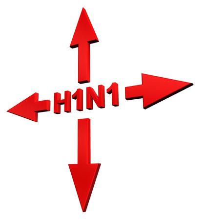 H1N1 - Swine Flu sign concept. Stock Photo - 5964941