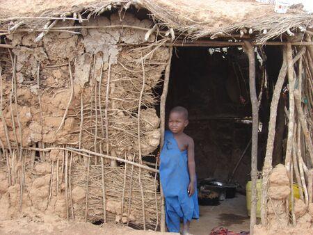 nairobi: Child in a traditional Masai village at the Nairobi-Mombasa road next to Tsavo National Park. Kenya 04 May 2007