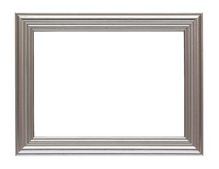 Silver frame isolated on white background photo