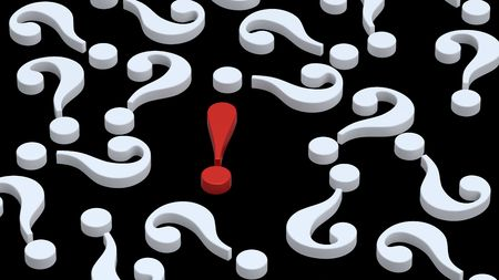 White question marks with red exclamation point Stock Photo - 6455803