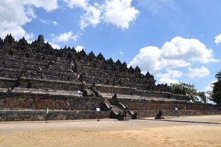 yogyakarta: Ancient Borobudur Temple, Yogyakarta, Java, Indonesia Stock Photo