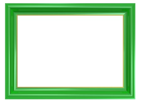 Light green frame isolated on white background. Computer generated 3D photo rendering.  Stock Photo - 6528789