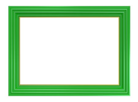 bordering: Light green frame isolated on white background. Computer generated 3D photo rendering.  Stock Photo