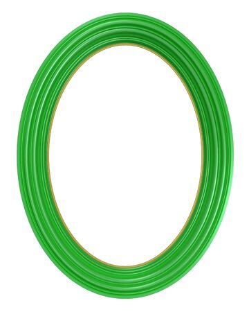 bordering: Light green frame isolated on white background. Computer generated 3D  rendering.