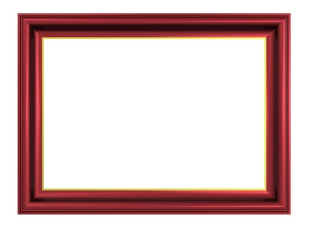 Cherry-brown frame isolated on white background. Computer generated 3D photo rendering.  photo