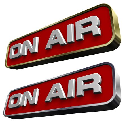 &quot,On Air&quot, sign.  Stock Photo