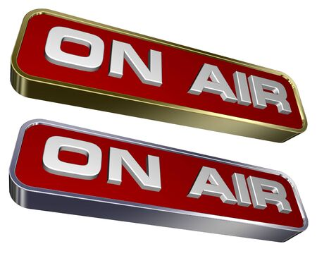 quot: &quot,On Air&quot, sign.  Stock Photo