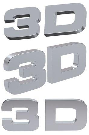 3d: Symbole 3D.