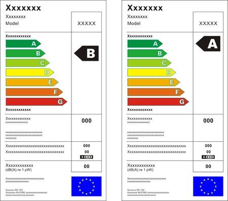 Refrigerator machine energy rating graph label  Stock Vector - 7357314