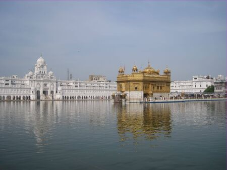 Golden temple in Amritsar - Sri Harimandir Sahib. India