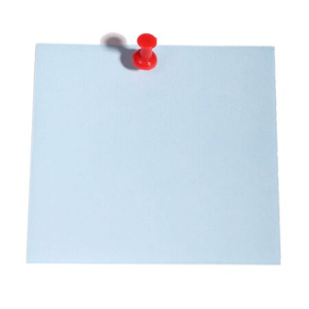 Color memory notes with paper clips over white Stock Photo - 7965197