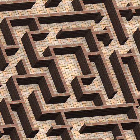 Labyrinth-Konzept. Computergenerierte 3D Foto Rendering.