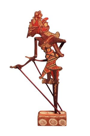 A traditional marionette Wayang Kulit, Hanuman. Indonesia photo