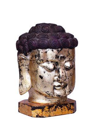 Buddha face statue isolated on white Stock Photo - 8218520