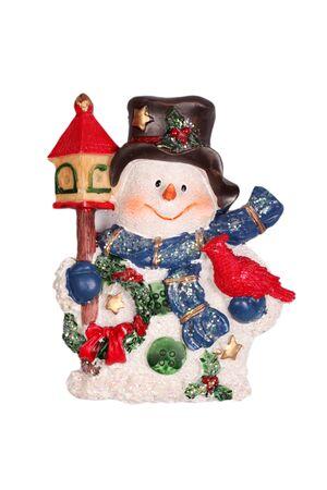 Christmas snowman on white background  photo