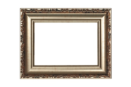 Gold frame on white background Stock Photo - 8343536