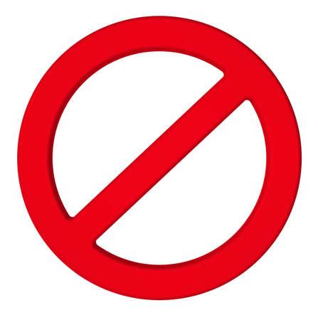 no access: PROHIBITION sign.