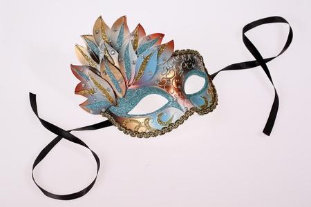 Carnival Venetian mask isolated on white background Stock Photo - 8698342