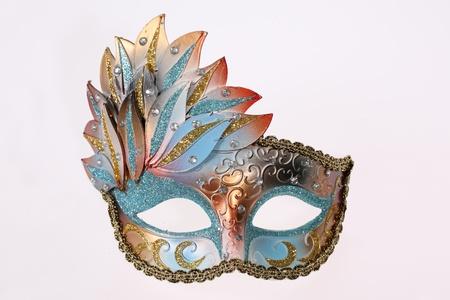 mascara de carnaval: Carnaval veneciano m�scara aislado en fondo blanco  Foto de archivo