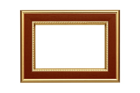 Gold-brown frame isolated on white background Stock Photo - 8767603