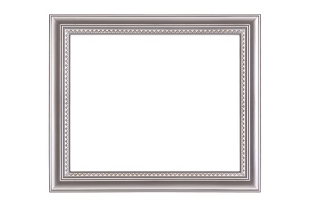Silver frame isolated on white background Stock Photo - 8784476