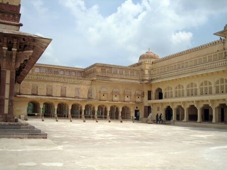 amber fort: Amber Palace - a historic site in Jaipur, Rajasthan, India