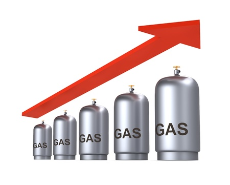 lng: Increasing price of gas concept. Computer generated 3D photo rendering.