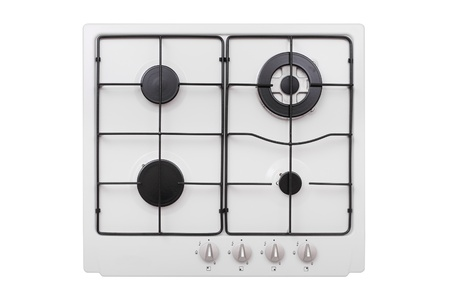 Gas hob isolated on white Stock Photo - 9590720