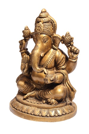 god figure: Hindu God Ganesh Stock Photo