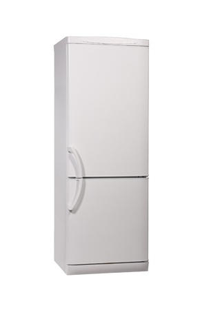 enclosed: The image of enclosed refrigerator isolated on white.