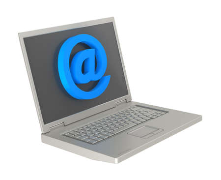 Email sign on laptop screen. Computer generated 3D photo rendering. Stock Photo - 9700472