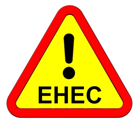 EHEC - warning sign. Computer generated 3D photo rendering. Stock Photo - 9700491