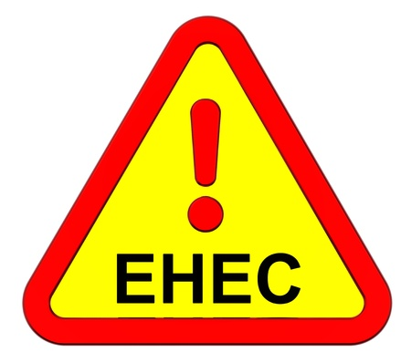 EHEC - warning sign. Computer generated 3D photo rendering. photo