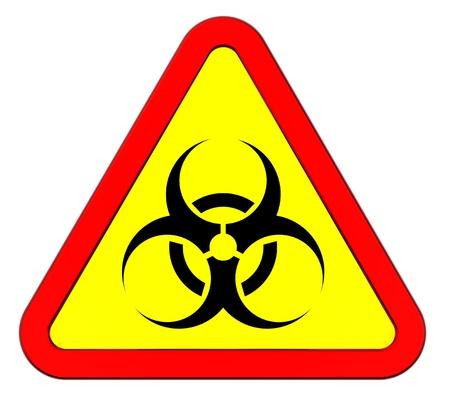 Biohazard warning sign isolated on white Stock Photo - 9700497