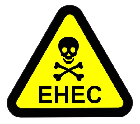 EHEC - warning sign. Stock Photo - 9700504