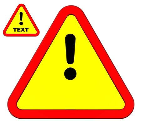 hazardous imperil: Warning sign isolated on white. You can put your own text inside.