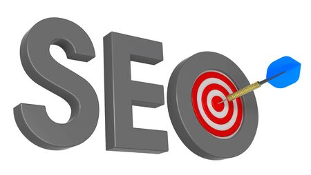 Dart and SEO target . Computer generated 3D photo rendering. Stock Photo - 9700511