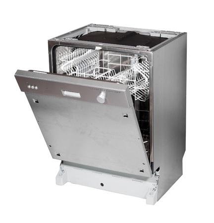 machine � laver: Moderne, construite en lave-vaisselle isol� sur fond blanc