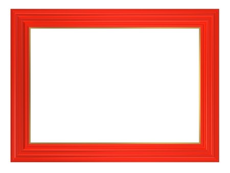 Red frame isolated on white background. Computer generated 3D photo rendering.